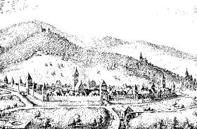 Dambach, gravure de Matthias Merian, 1644