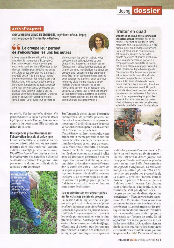 Réussir Vignes juin 2019 page 2